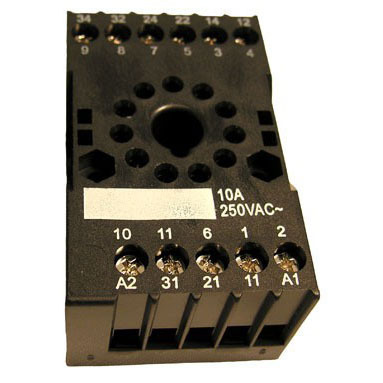 11 Pin Relay Socket, DIN rail or surface mounting
