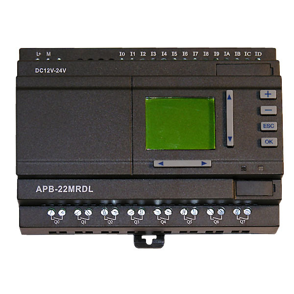 DC powered, 22 I/O APB controller, with HMI