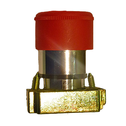 30 mm Red E-Stop Self Locking Metal
