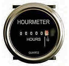 Round Hour Meter, 12 to 48VDC