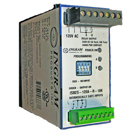 IS Relay,2 chan.,120VAC,surface mnt, 10K Ohm sense