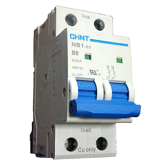 2 Pole Mini Circuit Breaker 5KA UL1077