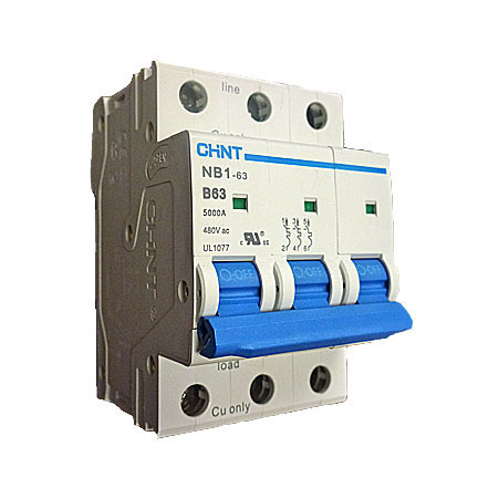 3 Pole Mini Circuit Breaker 5KA UL1077