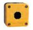 Pilot Enclosure, 1 hole, yellow